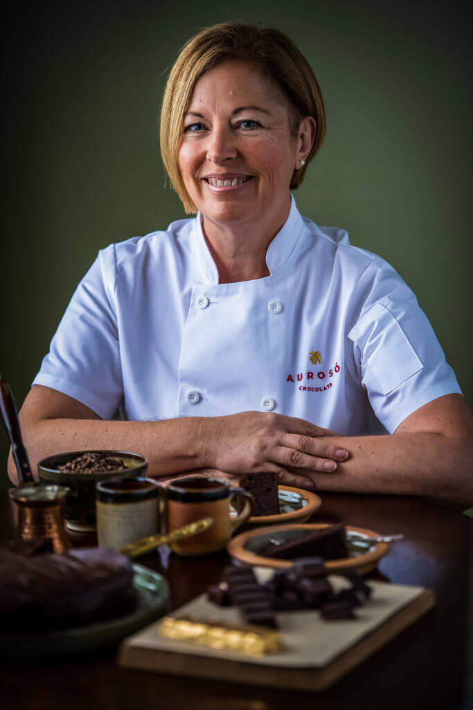 Catrin, Aurosó Chocolate's founder and luxury chocolatier