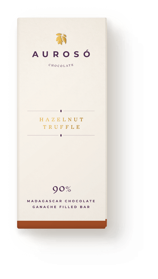 Ethical Hazlenut Truffle Madagascan Chocolate Ganache Bar